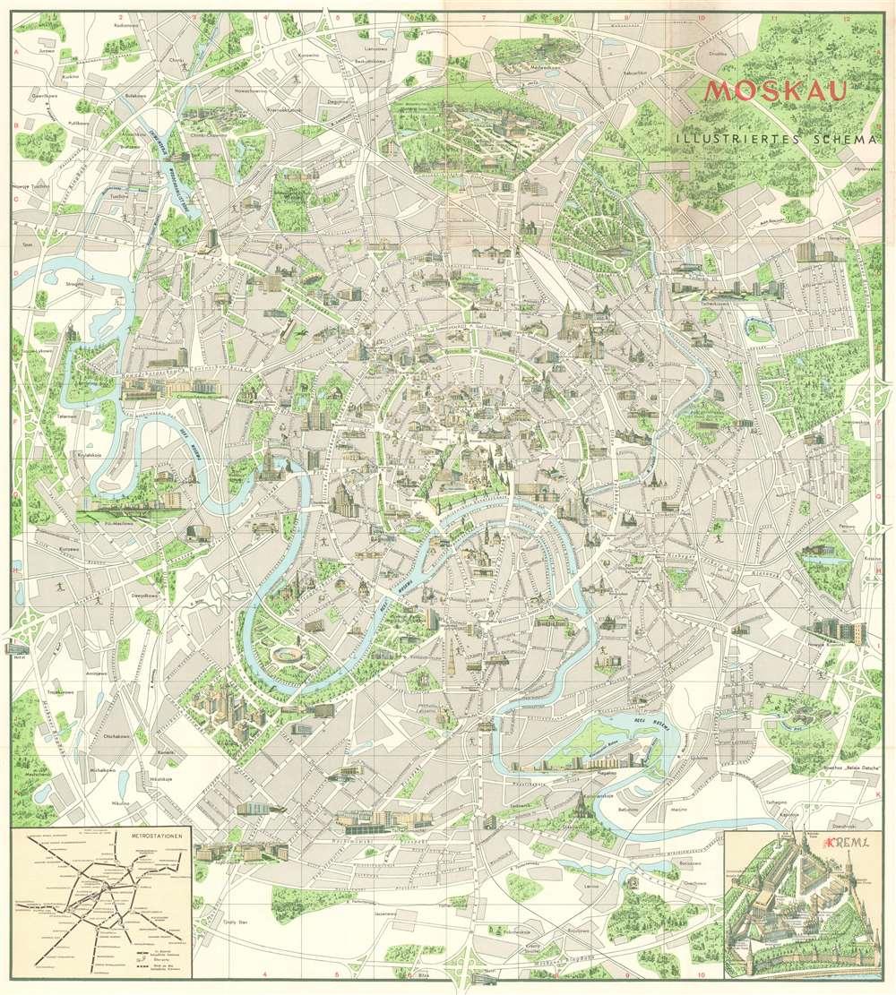 Moskau Illustriertes Schema. - Main View