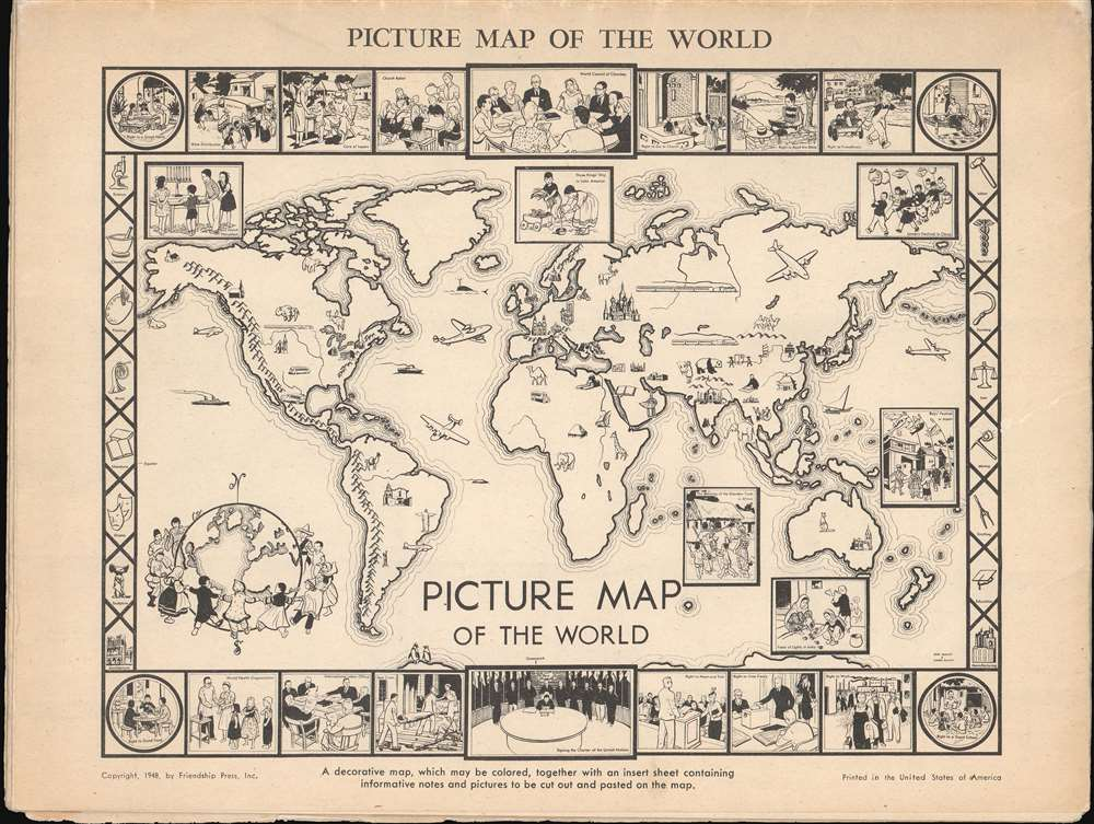 Picture Map of the World. - Alternate View 1