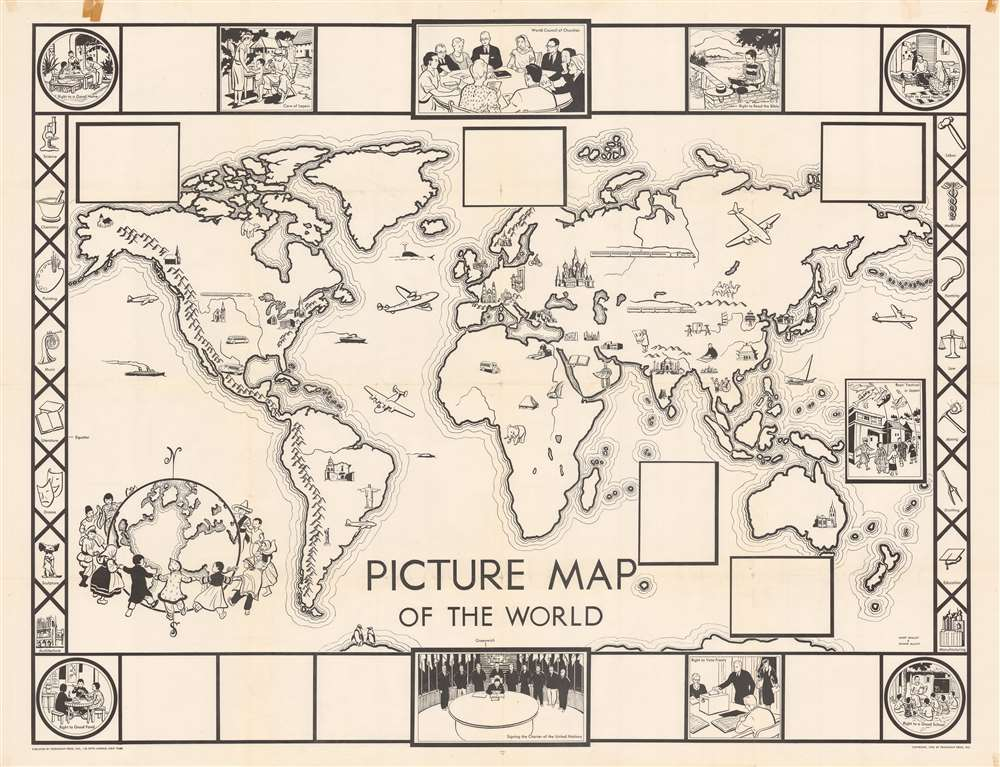 Picture Map of the World. - Main View