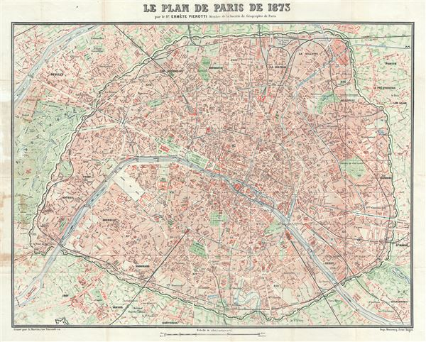 Le Plan de Paris de 1873 Geographicus Rare Antique Maps – Plan De Paris Map