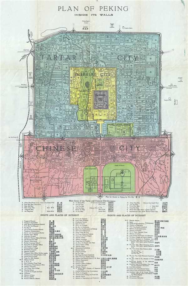 Plan of Peking Inside its Walls.