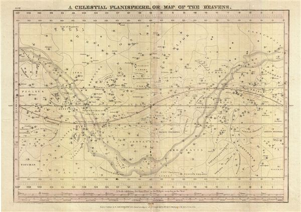 A Celestial Planisphere, or Map of the Heavens.