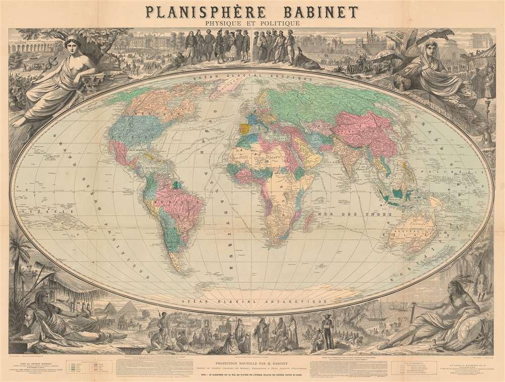 Planisphère Babinet Physique et Politique. - Main View