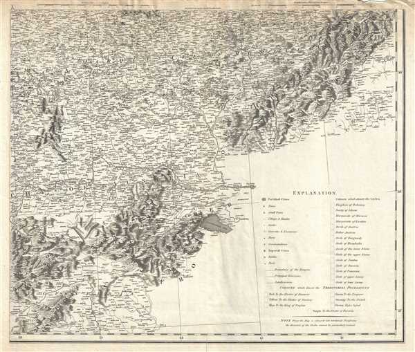 Plate X. [A general map of the Empire of Germany, Holland, the Netherlands, Switzerland, the Grisons, Italy, Sicily, Corsica, and Sardinia].