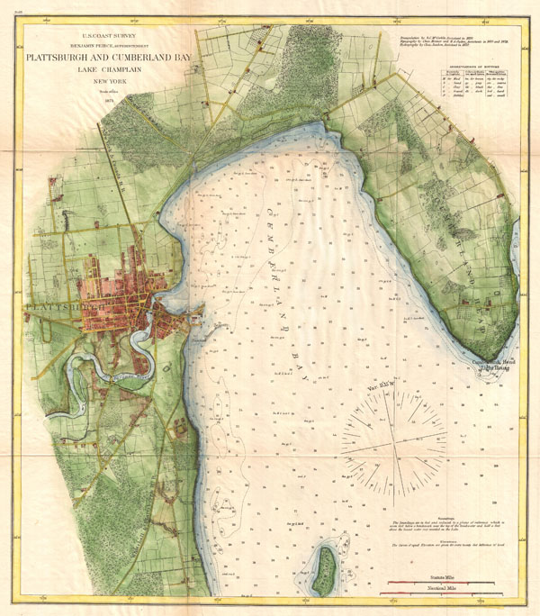 Plattsburgh and Cumberland Bay Lake Champlain New York. - Main View