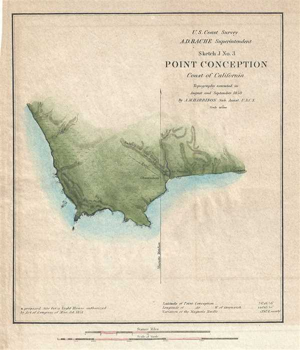 Sketch J No. 3 Point Conception Coast of California. - Main View