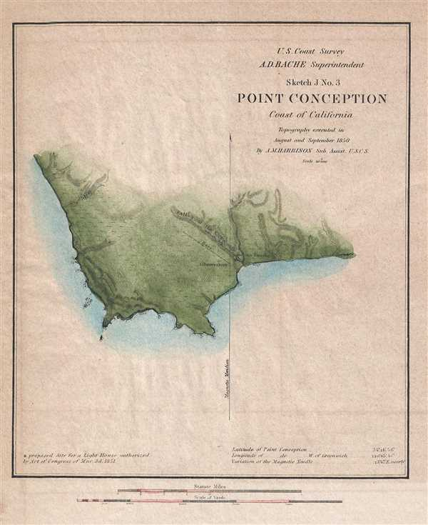 Sketch J No. 3 Point Conception Coast of California.