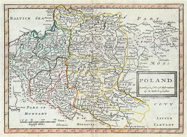 Poland According to ye Newest Observations by Herman Moll Geographer.