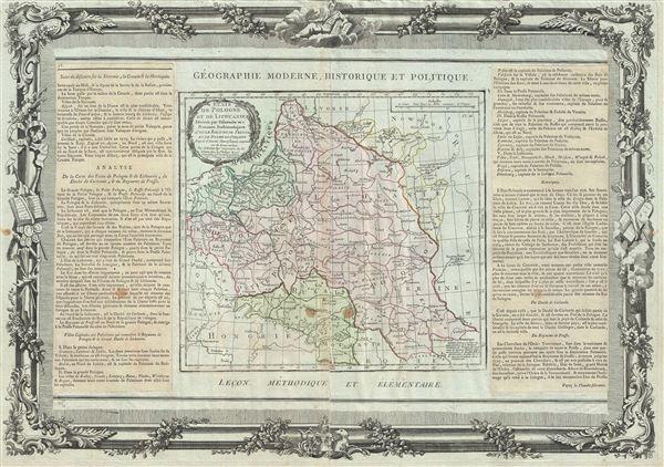 Etats de Pologne et de Lithuanie Divises par Palaunats et Provinces Ecclesiastiques Avec le Roiaume de Prusse et le Duche de Curlande.