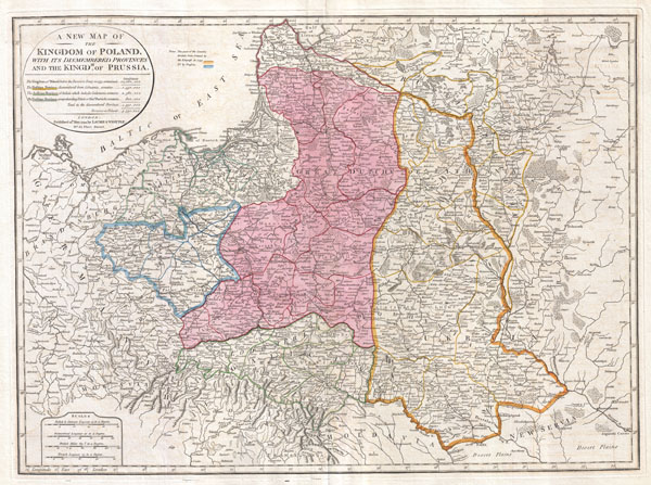 A New Map of the Kingdom of Poland, with its Dismembered Provinces and the Kingdom of Prussia.
