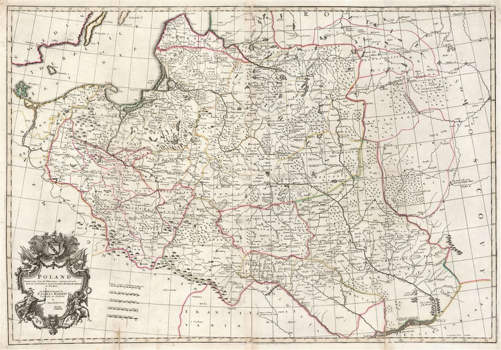 1708 Senex Map of Poland: a Likely First State