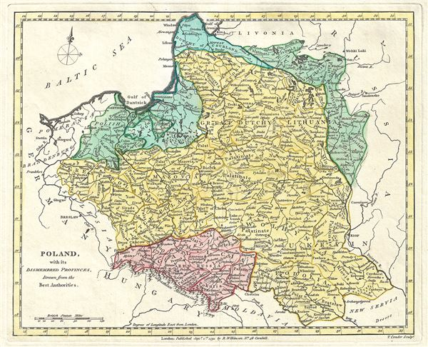 Poland, with its Dismembered Provinces, Drawn from the Best Authorities.