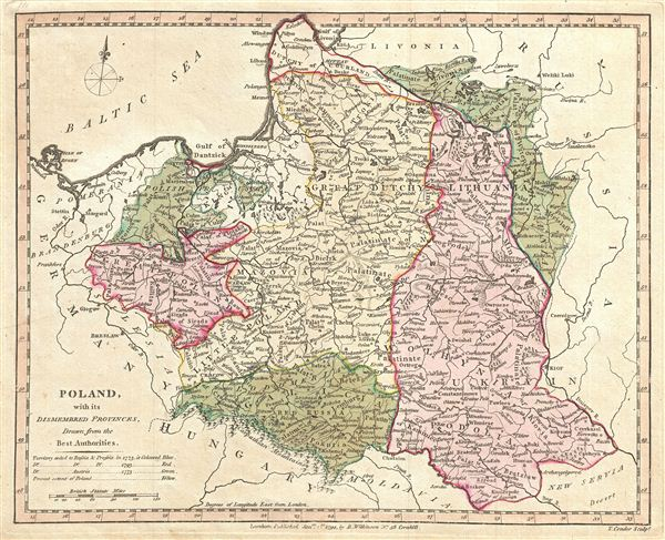 Poland with its Dismembered Provinces, Drawn from the Best Authorities.