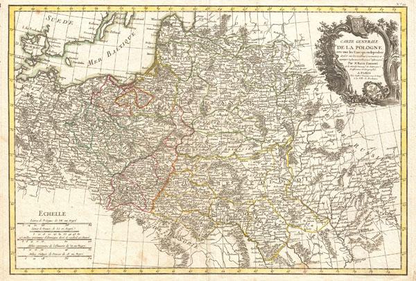 Carte Generale de la Pologne avec tous les Etats qui en dependent. - Main View