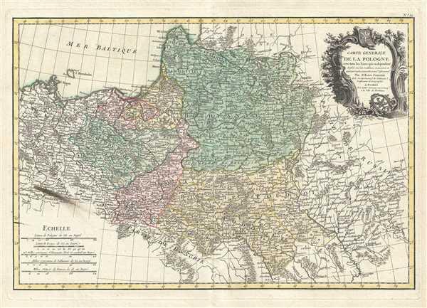 Carte Generale de la Pologne avec tous les Etats qui en dependent.