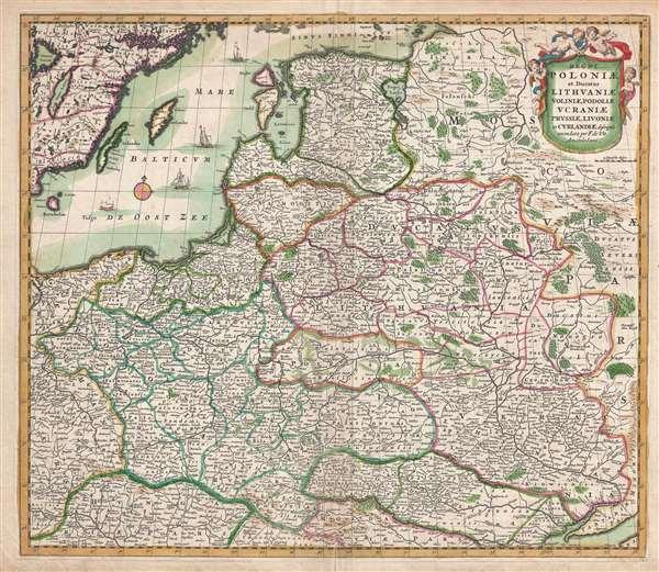 Regni Poloniae et Ducatus Lithuaniae Voliniae, Podoliae, Ucraniae, Prussiae, Lovoniae, et Curlandiae descriptio.