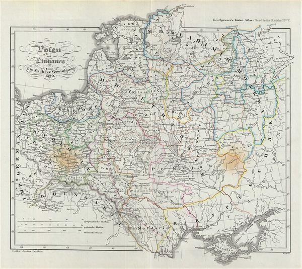 Polen und Litthauen von 1125 bis zu ihrer Vereinigung 1386.