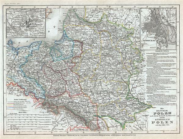 Die Republik Polen nach ihrem Bestande im Jahre 1772 und das Konigreich Polen seit dem Jahre 1815.