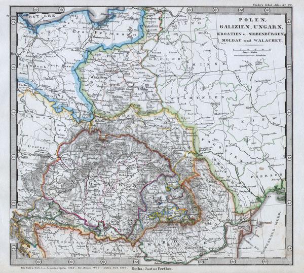 Polen, Galizien, Ungarn, Kroatien u. Siebenburgen, Moldau and Walachey.