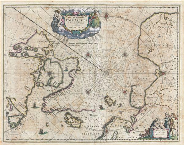 Nova et Accurata Poli Arctici et terrarum Circum Lacentium Descriptio.