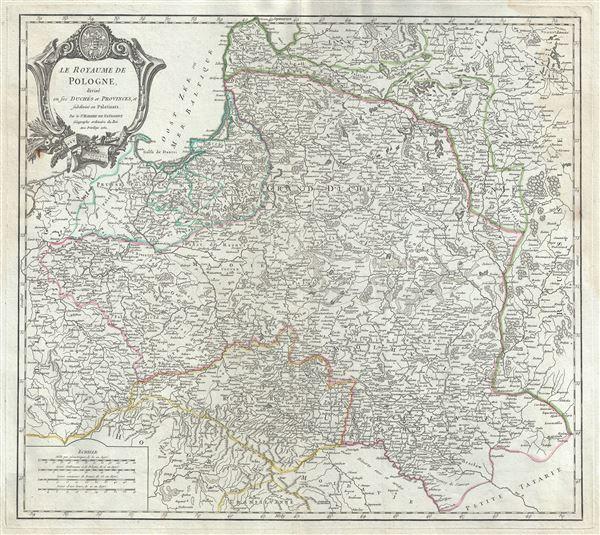 Le Royaume de Pologne, divise en ses duches et Provinces, et subdivise en Palatinats.