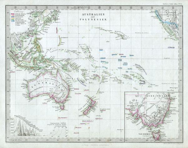 Australien und Polynesien.