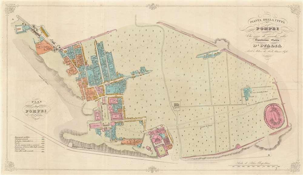 Pianta della Città di Pompei Cheserve di corredo alla nuovissima Guida d'Italia. - Main View