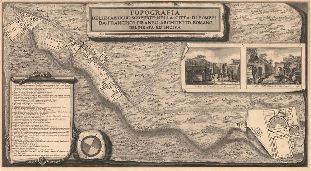 Topografia delle fabriche scoperte nella citta di Pompei. - Main View