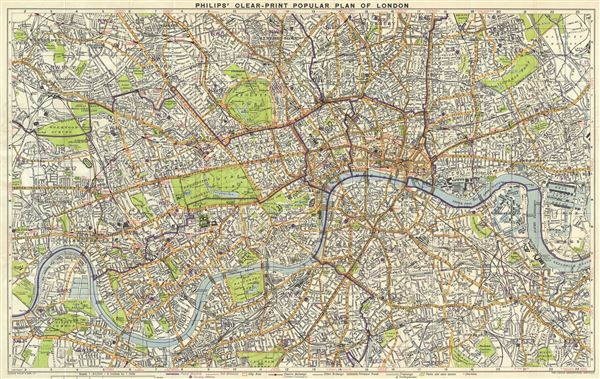 Philips' Clear Print Popular Plan on London.