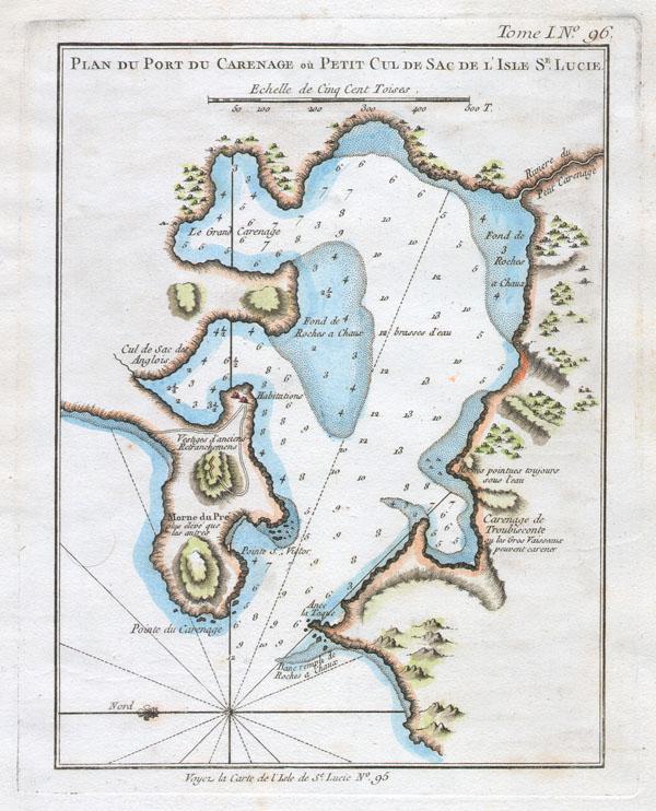 Plan du Port du Carenage ou Petit Cul de Sac de L'Isle St. Lucie. - Main View