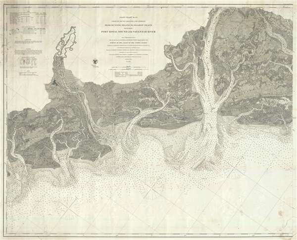 Coast Chart No. 55 Coast of South Carolina and Georgia from Hunting Island to Ossabaw Island Including Port Royal Sound and Savannah River
