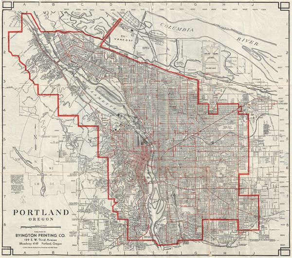 Portland Oregon Geographicus Rare Antique Maps