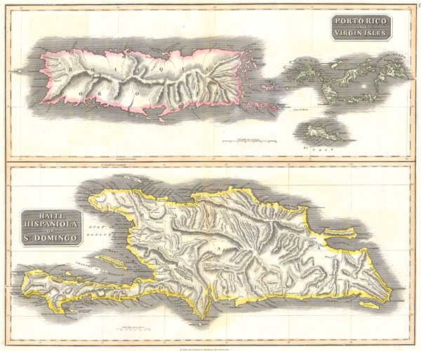 West India Islands.  Porto Rico and Virgin Isles.  Haiti, Hispaniola or St. Domingo.