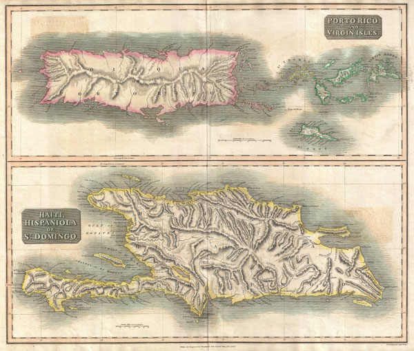 Porto Rico and Virgin Isles.  Haiti, Hispaniola or St. Domingo. - Main View