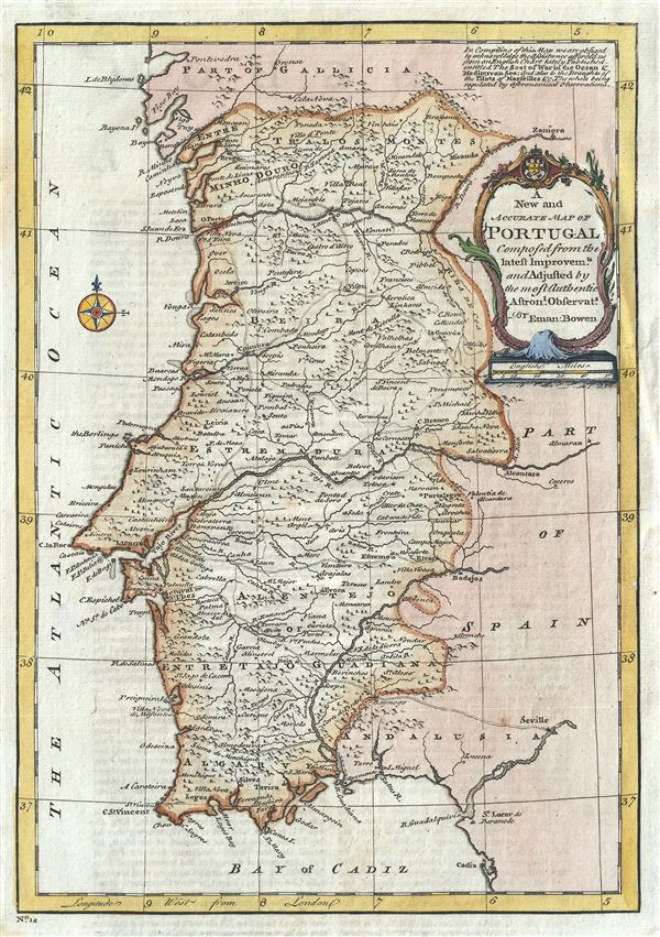 A New and Accurate Map of Portugal.