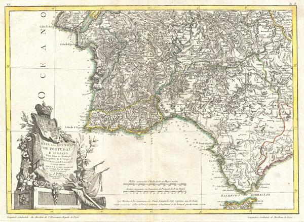 Mapa dos Reynos de Portugal e Algarve.