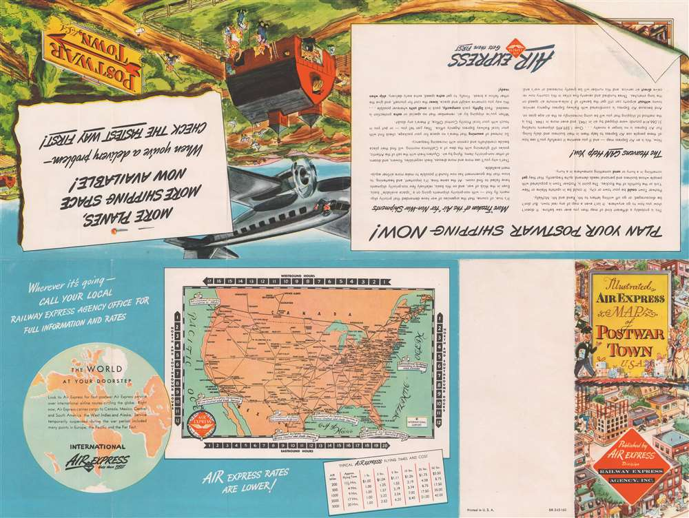 Postwar Town, U.S.A. Showing typical uses for AIR Express in any Community. - Alternate View 1
