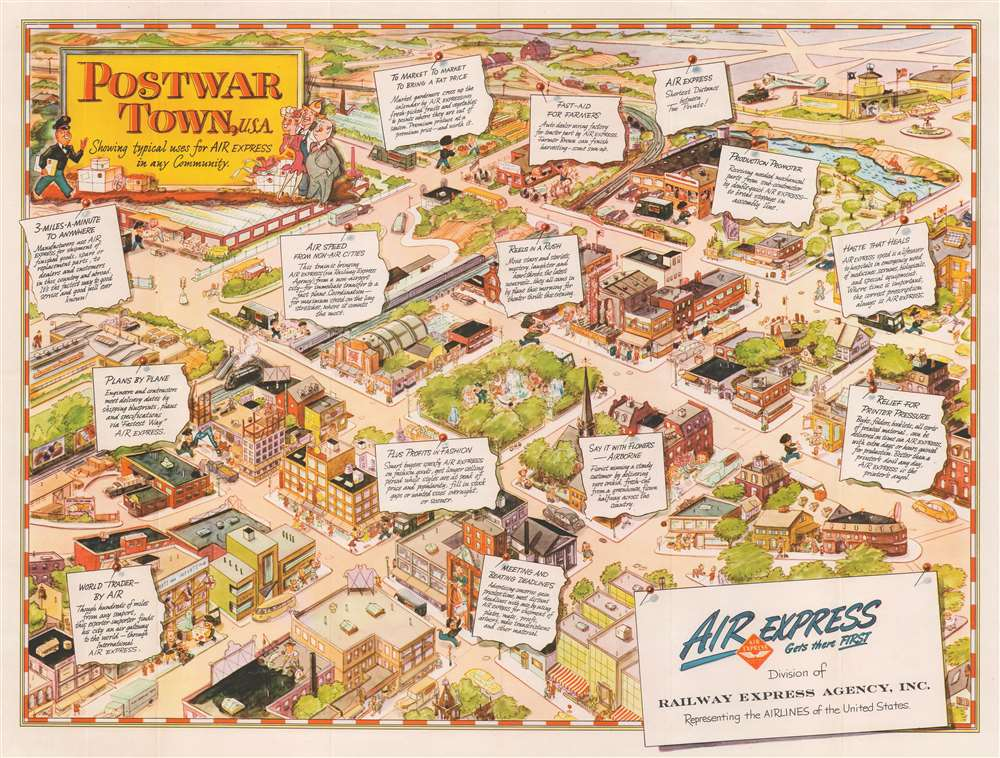 Postwar Town, U.S.A. Showing typical uses for AIR Express in any Community. - Main View