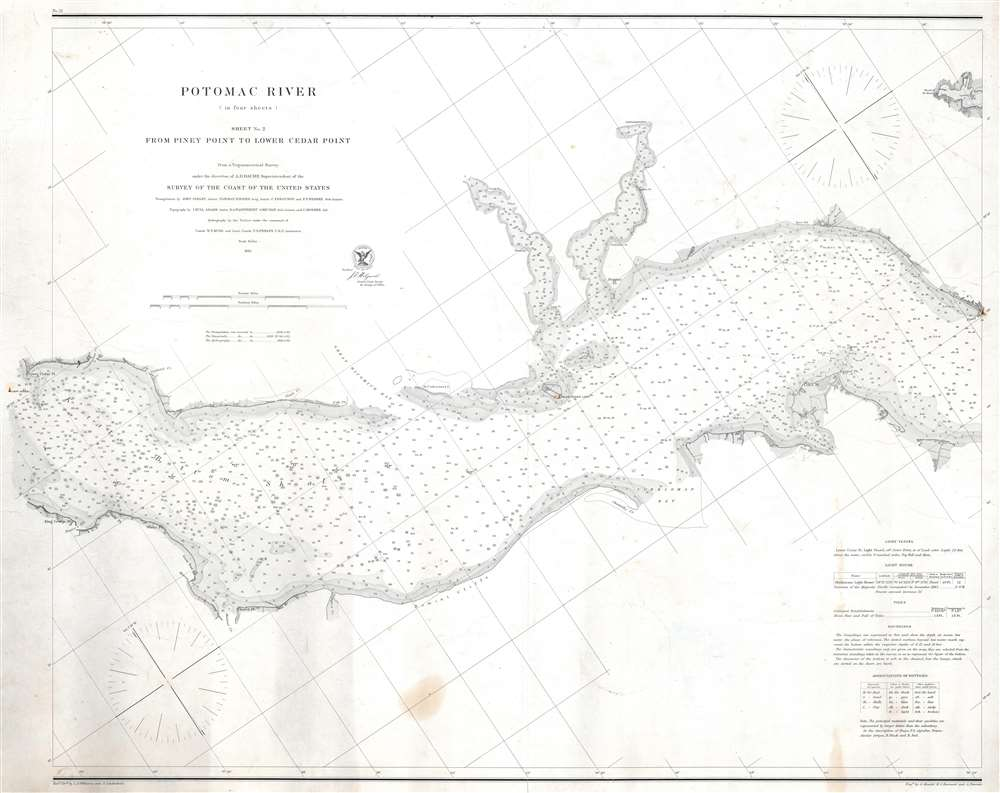 Potomac River (in four sheets) Sheet No. 2 From Piney Point to Lower Cedar Point. - Main View
