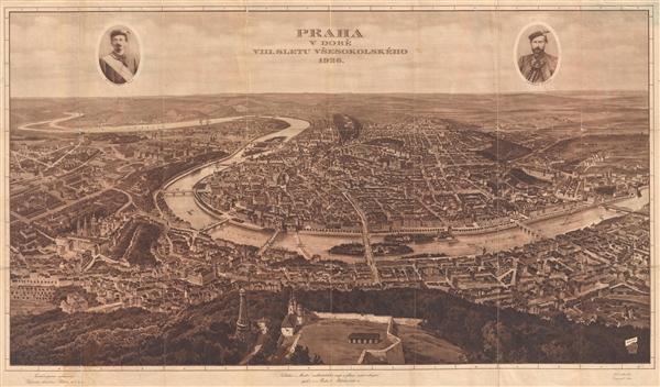 Praha v Době VIII. Sletu Všesokolského 1926. (Prague during the 8th Sokol Rally in 1926) - Main View