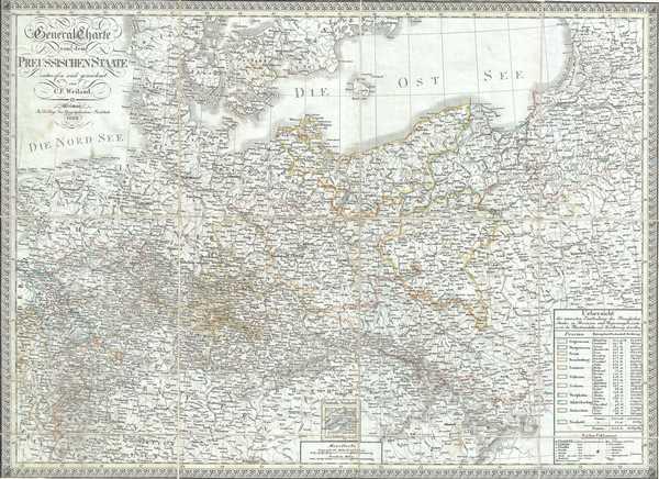 General Charte von dem Preussischen Staate.