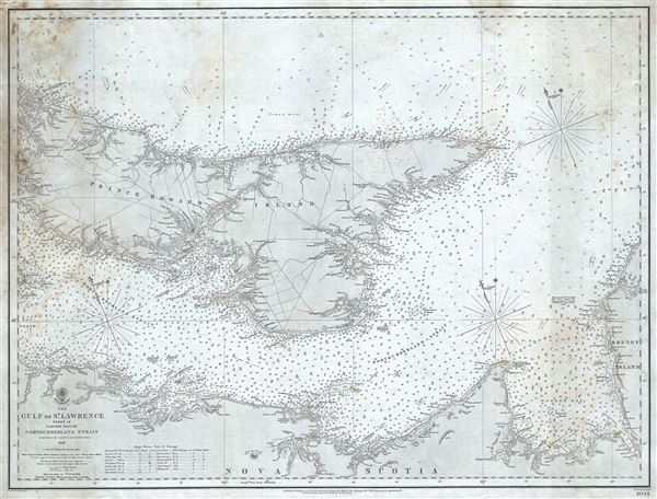 The Gulf of St. Lawrence Sheet IX Eastern part of Northumberland Strait.