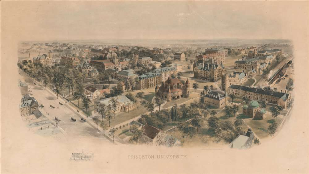 1906 Richard Rummell View of Princeton University, New Jersey