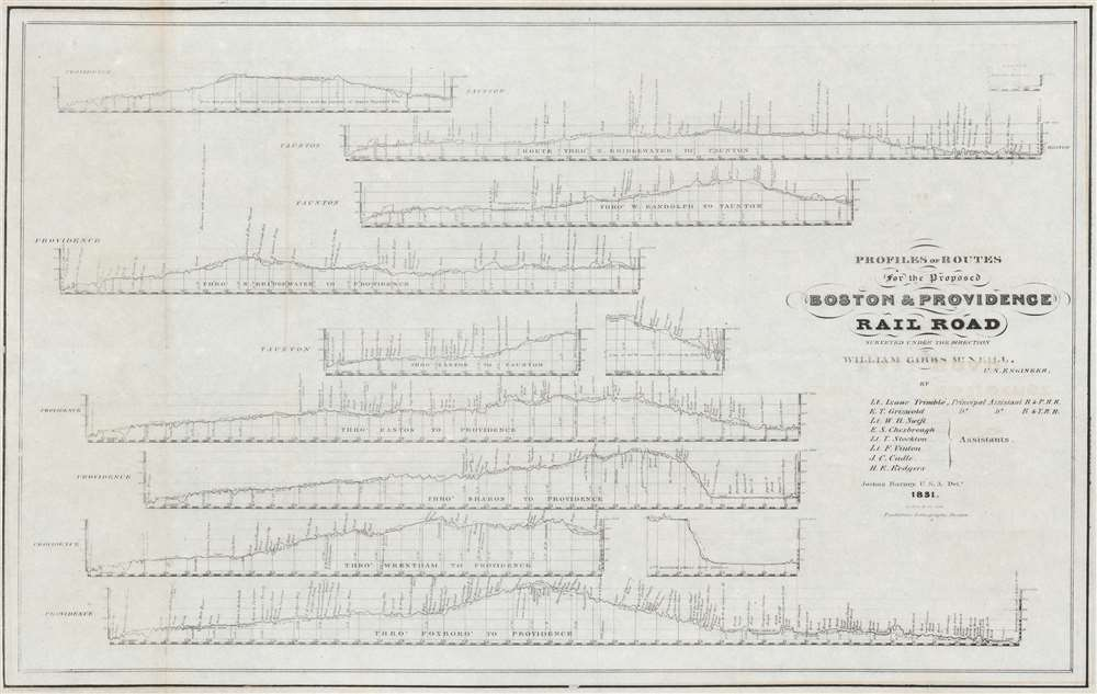 Profiles and Routes for the Proposed Boston and Providence Railroad Surveyed Under the Direction of William Gibbs McNeill. - Main View