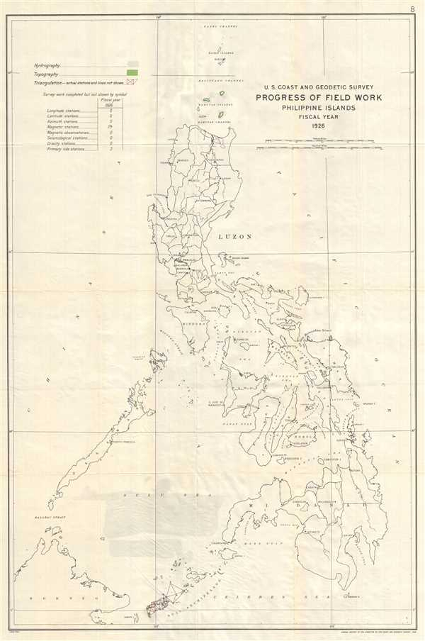 U.S. Coast and Geodetic Survey Progress of Field Work Philippine Islands Fiscal Year 1926.