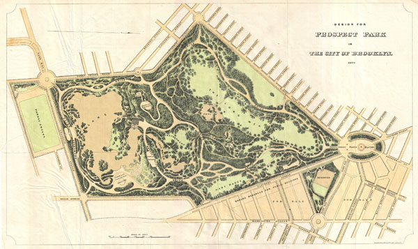 Design for Prospect Park as Proposed to be Laid Out for The City of Brooklyn. - Main View