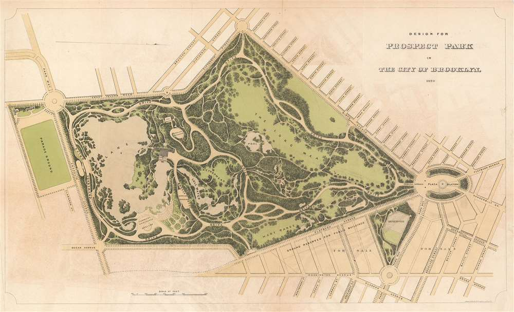 Design for Prospect Park in the City of Brooklyn.