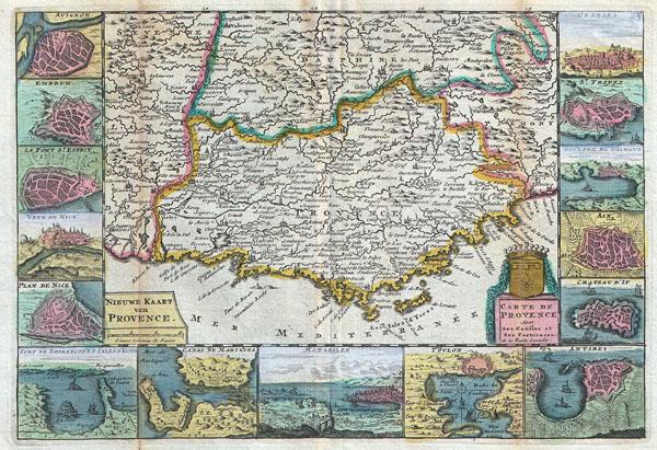 Nieuwe Kaart van Provence. / Carte de Provence Avec ses Confins et Ses Fortereses. - Main View
