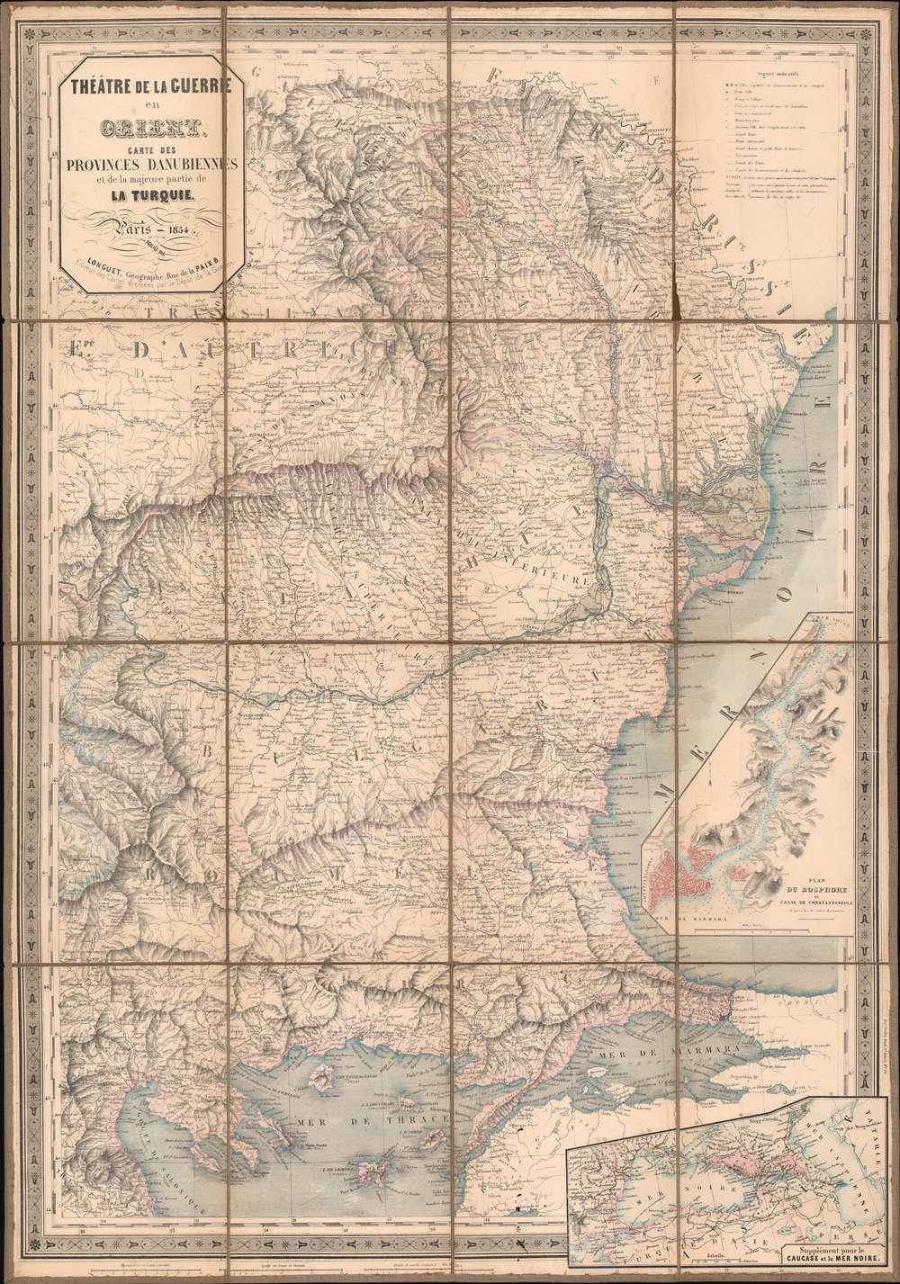 Théâtre de la Guerre en Orient. Carte des Provinces Danubiennes et de la majeure partie de la Turquie. - Main View