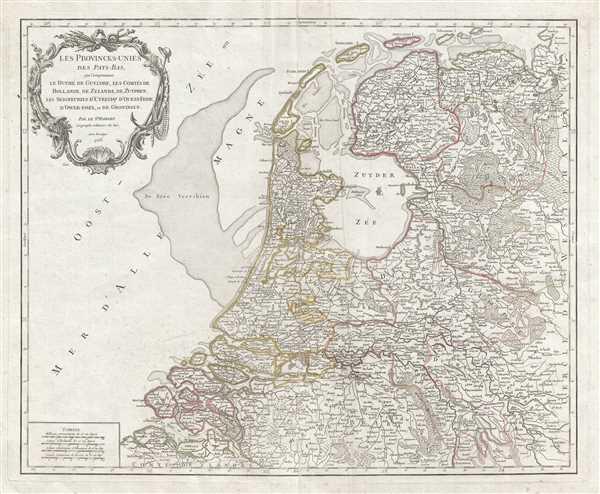 Les Provinces-Unies des Pays-Bas, que comprennent le Duche de Gueldre, les Comtes de Hollande, de Zelande, de Zutphen, les Seigneuries d'Utrecht, d'Ouest-Frise, d'Ower-Issel, et de Groningue.